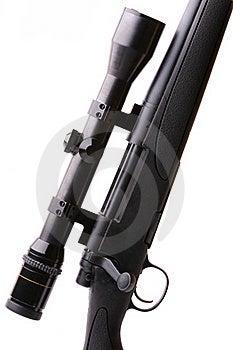 Sniper Rifle Isolated On White Stock Photo - Image: 23294080