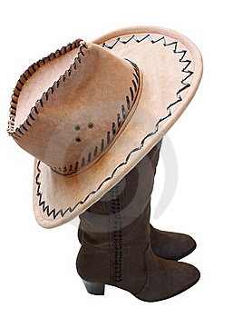 Boots And A Hat Royalty Free Stock Images - Image: 23299419