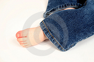 Cute Toddler Foot Royalty Free Stock Photo - Image: 2333445
