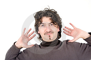 Man With Open Hands Royalty Free Stock Image - Image: 2333526