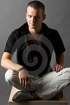 Man's portrait Stock Images