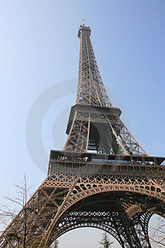 The Eiffel tower, Paris - 7 Royalty Free Stock Photos