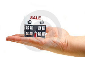 ....hand hold a house Stock Photography