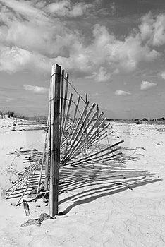 Sand Fence Stock Image - Image: 2339941