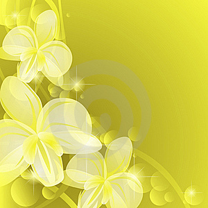 Background With Yellow Orchids Stock Images - Image: 23300134