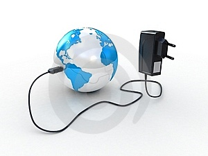 Travel Adapter And Globe Royalty Free Stock Photos - Image: 23304448
