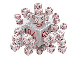 Percent Cubes Stock Photography - Image: 23304922