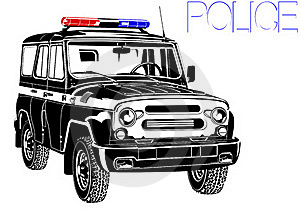 Car With A Special Signal Royalty Free Stock Photos - Image: 23308338