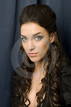 Young Woman With Blue Eyes Stock Photo - Image: 23311670