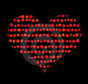 Conceptual Symbol Of Red Heart With Bubbles Royalty Free Stock Photo - Image: 23313375