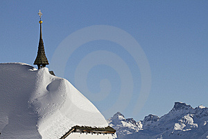 Snowbound Historic Church Stock Photography - Image: 23321932