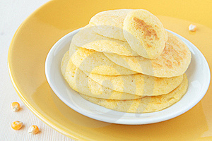 A Stack Of Pancakes Made of Maize Flour Royalty Free Stock Photos - Image: 23323708