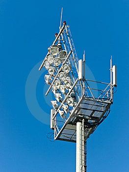 Stadium Floodlight Tower Stock Image - Image: 23329541
