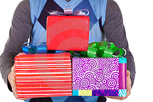 Present Gifts In Men's Hands Stock Photos - Image: 23330993