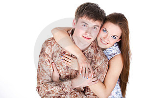 Loving Couple Embracing Stock Photo - Image: 23331190