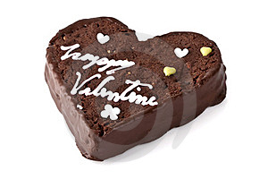 Heart Shaped Slice Of A Brownie Stock Photo - Image: 23334040