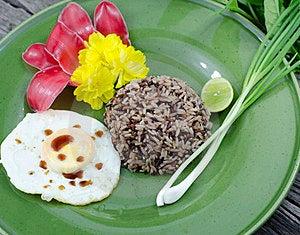 Organic Jasmine Rice Whit Fried Egg. Royalty Free Stock Photo - Image: 23334825