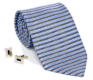 Man Cuff Links And Tie Royalty Free Stock Photo - Image: 23344625