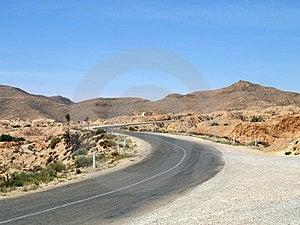 Desert Highway In Tunisia Royalty Free Stock Photo - Image: 23347695