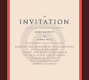 κομψή πρόσκληση στο γάμο Στοκ φωτογραφία με δικαίωμα ελεύθερης χρήσης - εικόνα: 23349667
