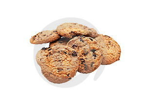Sweet Cookies With Raisin Royalty Free Stock Image - Image: 23350716