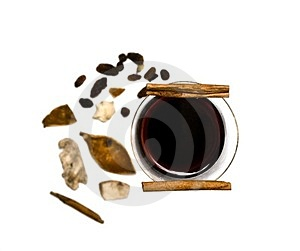 Mulled Wine, Cinnamon And Spices Stock Photos - Image: 23352863