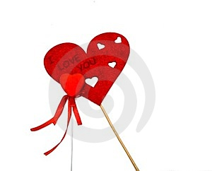 Two Red Hearts Royalty Free Stock Images - Image: 23352979