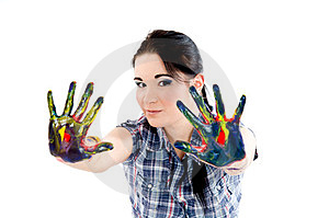 Colored Hands Stock Photo - Image: 23354070