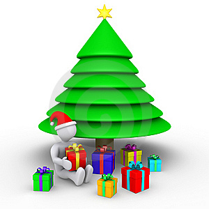 Time To Open The Presents For Christmas Stock Image - Image: 23358671