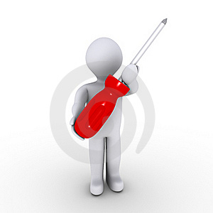 Man With Screwdriver Stock Image - Image: 23358961