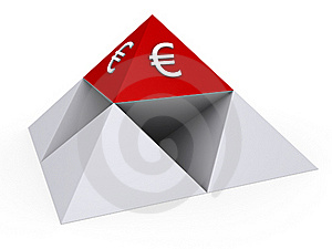 Pyramids With Euro Sign Stock Photo - Image: 23359190