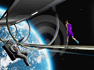 Run In Space Royalty Free Stock Images - Image: 23361169