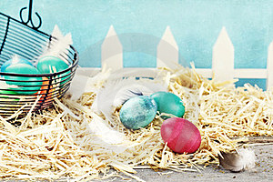 Rustic Easter Eggs Royalty Free Stock Images - Image: 23364239