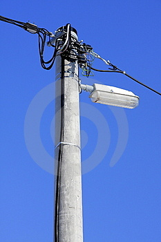 Concrete Post With Lamp Stock Images - Image: 23368004