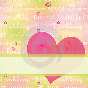 Abstract Springtime Greeting Card Royalty Free Stock Photography - Image: 23373187