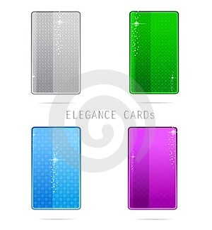 Glass Elegance And Clean Cards Set Stock Photography - Image: 23376912