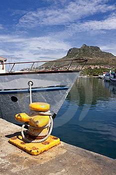Boat Anchored In The Harbour. Royalty Free Stock Images - Image: 23378489
