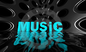 Music Wide Wave Poster Stock Photo - Image: 23392970