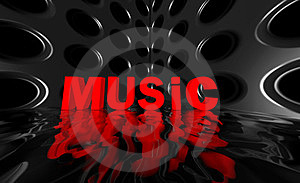 Music Wide Wave Poster Stock Photo - Image: 23392990