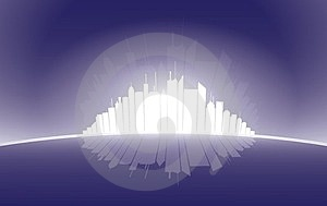 City High Rise Silhouette Illustration In White Stock Image - Image: 23393971