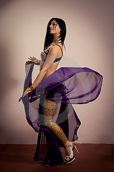 Girl Is Dancing The National Dance Royalty Free Stock Photography - Image: 23393987