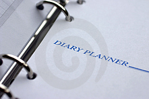 Diary planner Royalty Free Stock Image
