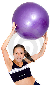 Girl doing a fitness workout Stock Photo