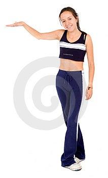 Показ женщины пригодности Стоковое Изображение - изображение: 2343331