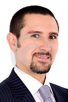 Friendly business man portrait Royalty Free Stock Photos