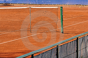 Empty Tennis Court Royalty Free Stock Photo - Image: 2344925