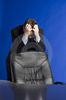 Desperate Businessman Stock Photography - Image: 2345312