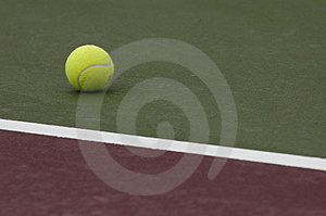 Tennis Ball On Court Royalty Free Stock Image - Image: 2346076
