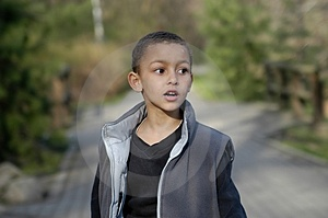 A Boy Walking Stock Photo - Image: 2349930