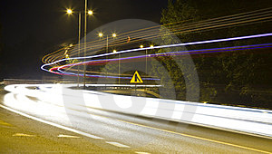 Cars At Night Stock Photography - Image: 23402002
